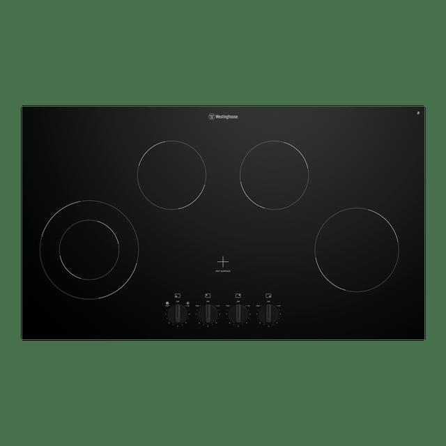 90cm Ceramic Cooktop 4 Element Front Knob Control