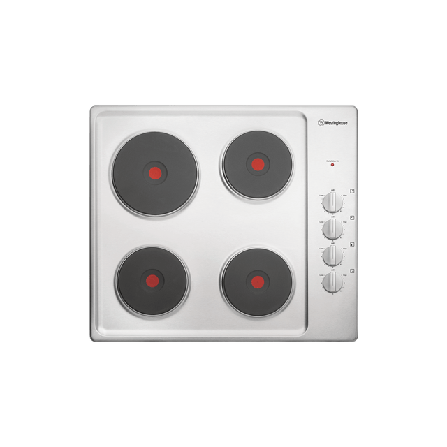 60cm Electric Solid Cooktop, Knob Controls S/S