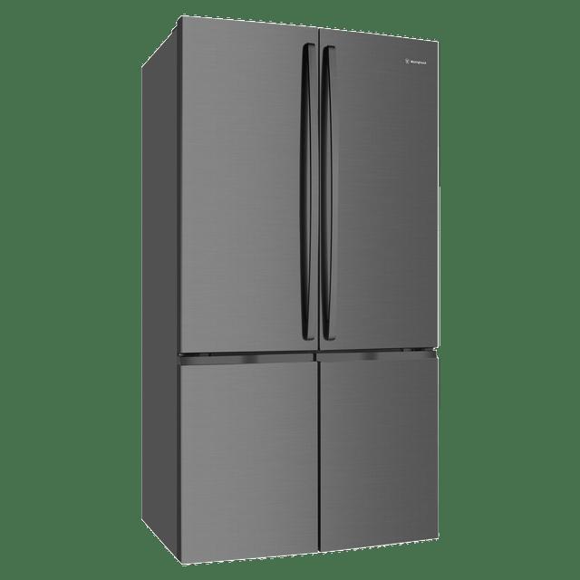 600L French 4 Door Fridge w/ Bar Handles - Dark S/S