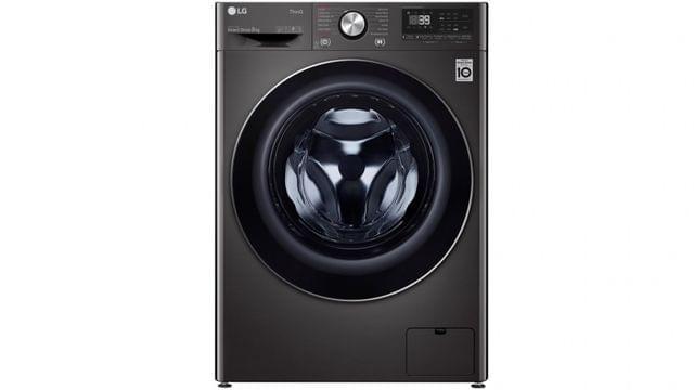 9kg Front Load Washing Machine Black Steel