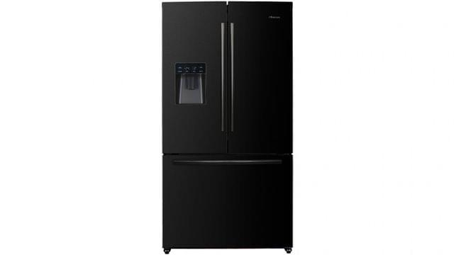 630L French Door Fridge - Black Steel