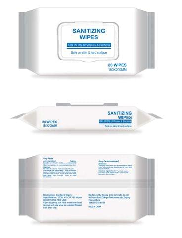 24 packs of - non alcoholic  wipes (80 per pack)