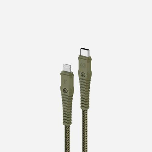 Momax Tough Max DL33 Fast Charge PD 3.0 C to lightning 1.2m Cable - Green