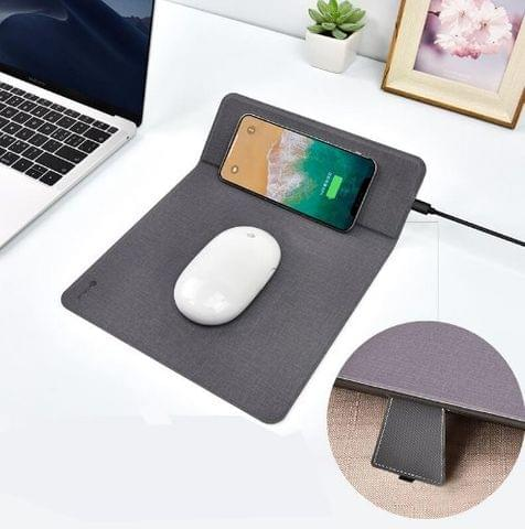 COTEetCI Wireless Charger with Mouse Pad - Grey