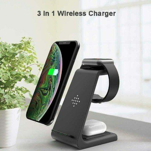 ULTIMATE T3 3-IN-1 WIRELESS FAST CHARGING STATIION - BLACK