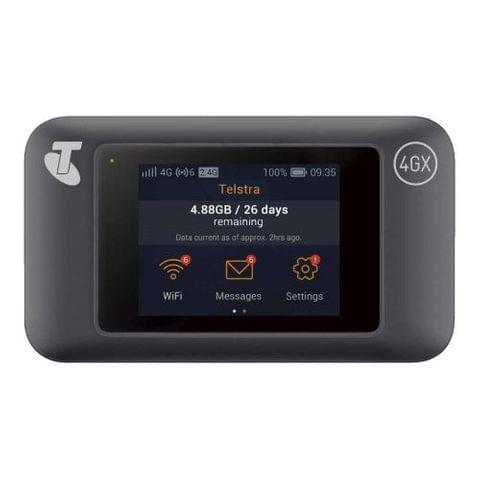 Telstra Prepaid 4GX Wifi Pro Modem Black