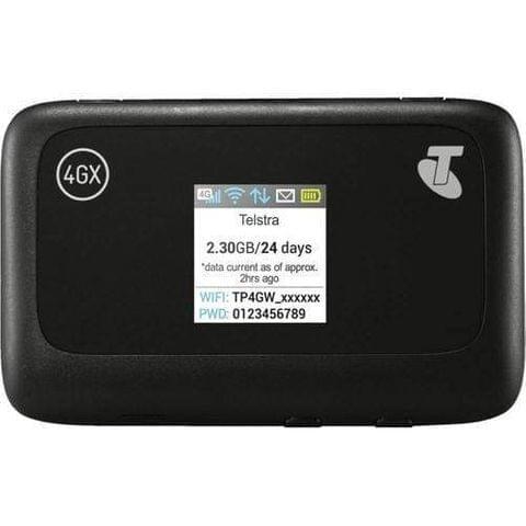 Telstra Prepaid 4GX Wifi Plus Modem MF910Y 3GB30D Black