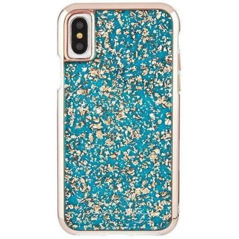 Case-Mate - Karat Turquoise (Rose Gold) - iPhone X / XS - Turquoise