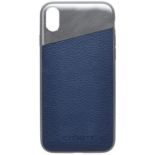CYGNETT - Element Leather Case - iPhone X / XS - Navy