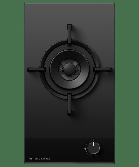 90cm 3 Burner Gas on Glass Cooktop LPG - Black