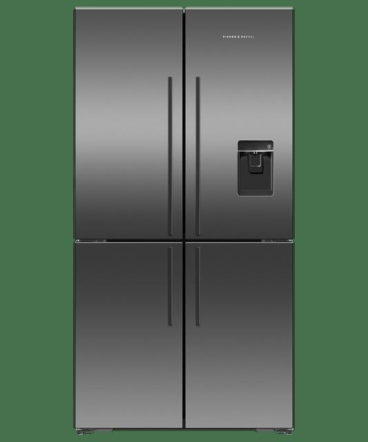 605L French 4 Door Fridge w/ Ice & Water - S/S