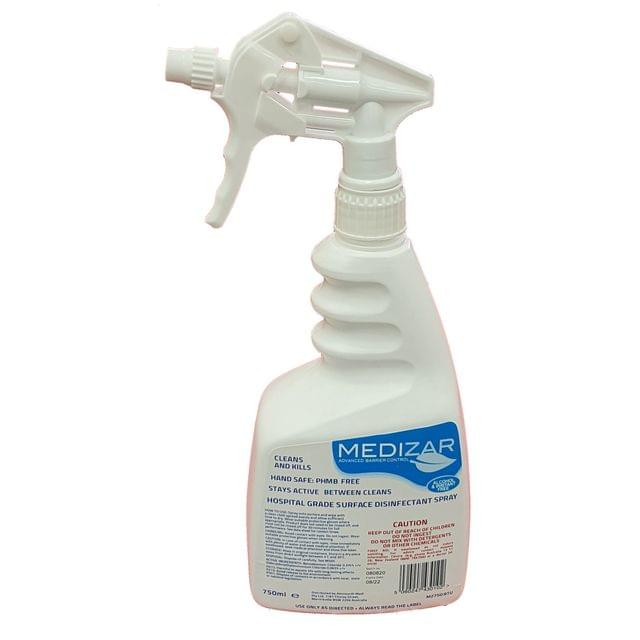 Medizar Hospital Grade surface disinfectant trigger spray 750ml, carton of 6