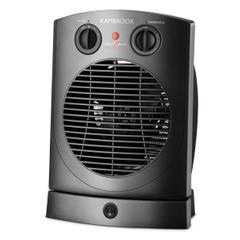 KAMBROOK 2400W Upright Black Fan Heater