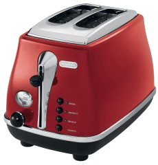 DELONGHI Icona 2 Slice Red Toaster