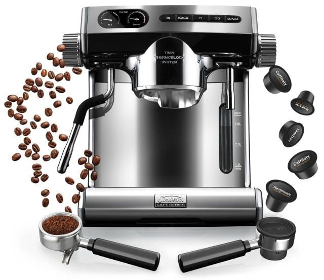 SUNBEAM Cafe Series Coffee Machine - Stainless Steel (EM7100)