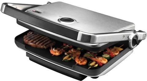 SUNBEAM Cafe Contact Electric Grill & Sandwich Press - Stainless Steel (GC7850B)