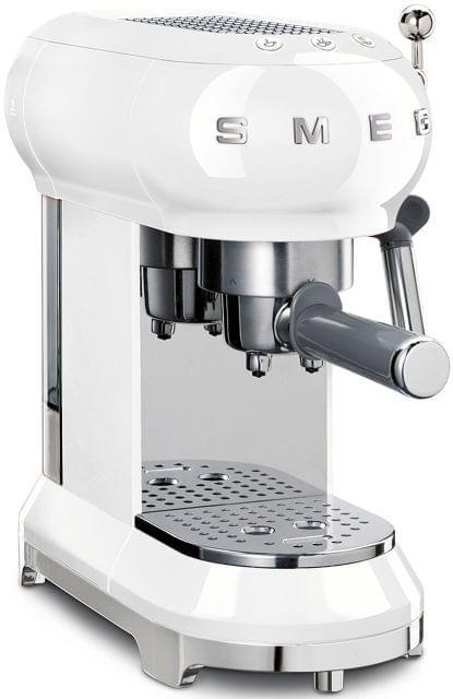 SMEG 50's Style Coffee Machine - White (ECF01WHAU)