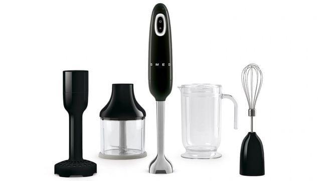 SMEG 50's Style Stick Mixer - Black (HBF02BLAU)