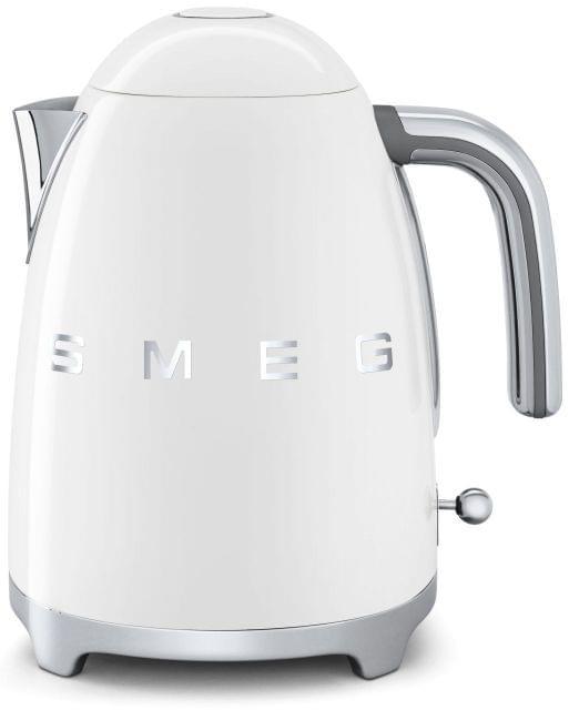SMEG 1.7L 50's Style Stainless Steel Kettle - White (KLF03WHAU)