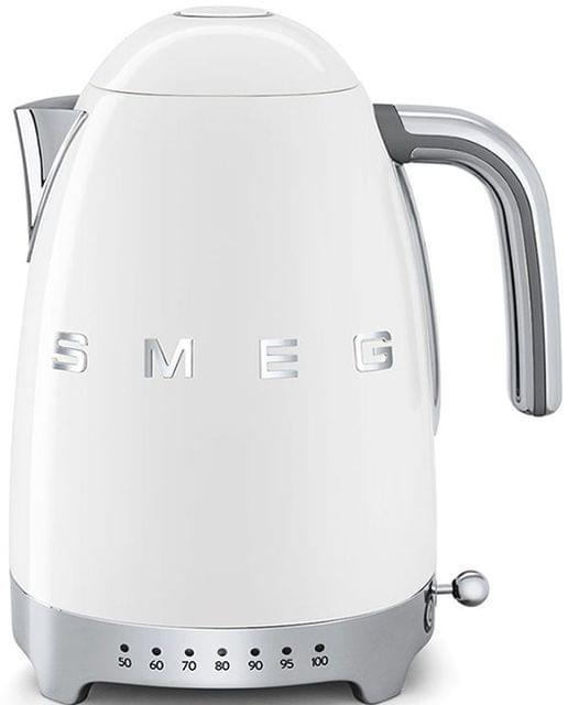 SMEG 1.7L 50's Style Variable Temperature Kettle - White (KLF04WHAU)