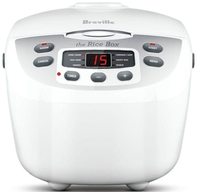 BREVILLE The Rice Box Rice Cooker - White