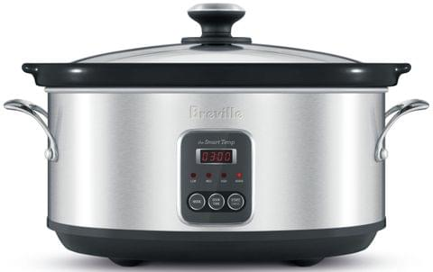 BREVILLE The Smart Temp Slow Cooker - Stainless Steel (BSC420)