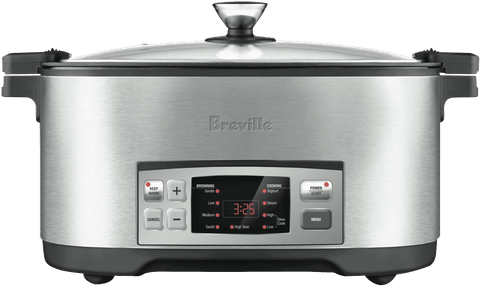 BREVILLE The Searing Slow Cooker - Stainless Steel (LSC650BSS)