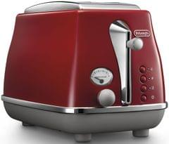 DELONGHI Icona Capitals 2 Slice Toaster - Red
