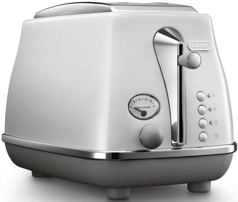 DELONGHI Icona Capitals 2 Slice Toaster - White (CTOC2003W)