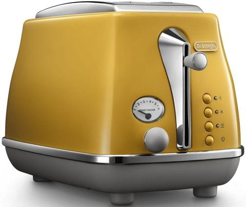DELONGHI Icona Capitals 2 Slice Toaster - Yellow (CTOC2003Y)