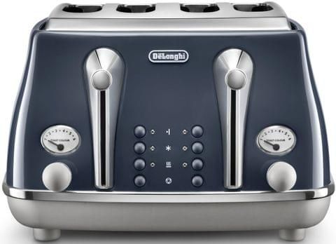 DELONGHI Icona Capitals 4 Slice Toaster - Blue (CTOC4003BL)