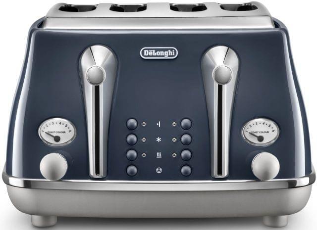 DELONGHI Icona Capitals 4 Slice Toaster - Blue (CTOC4003BL)