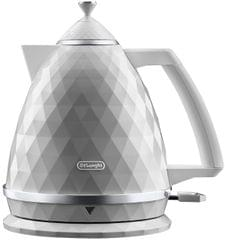 DELONGHI 1.7L Brillante Kettle - White (KBJX2001W)