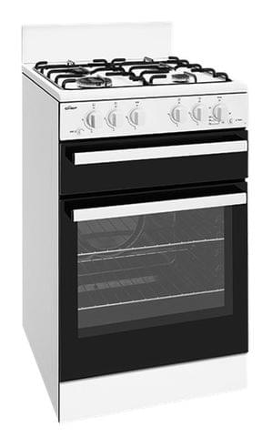 CHEF 54cm Freestanding Cooker NG - White (CFG501WBNG)