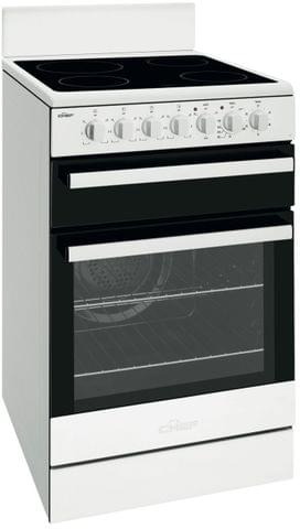 CHEF 54cm Electric Upright Oven Seperate Grill - White