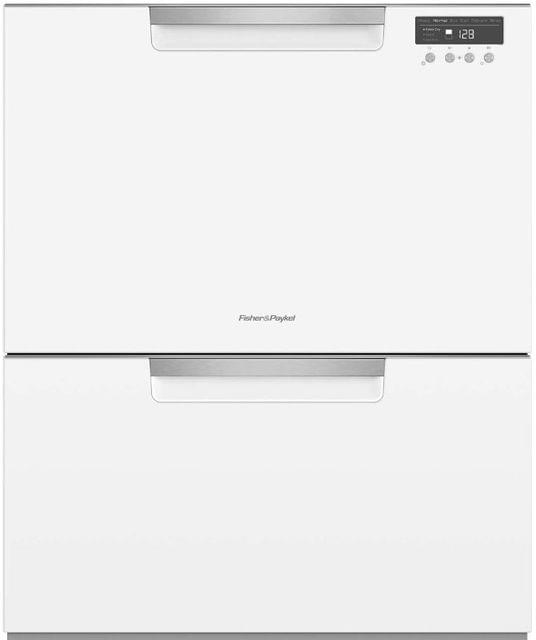 F&P 60cm Double Dish Drawer - Classic White (DD60DCW9)