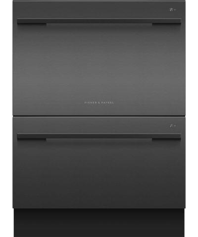 F&P 60cm Double Dishdrawer 14 Place Settings Black (DD60DDFB9)
