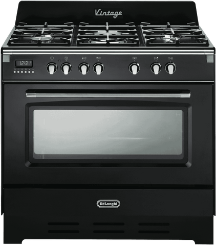 DeLonghi 90cm Dual Fuel Upright Cooker (DEFV908BK)