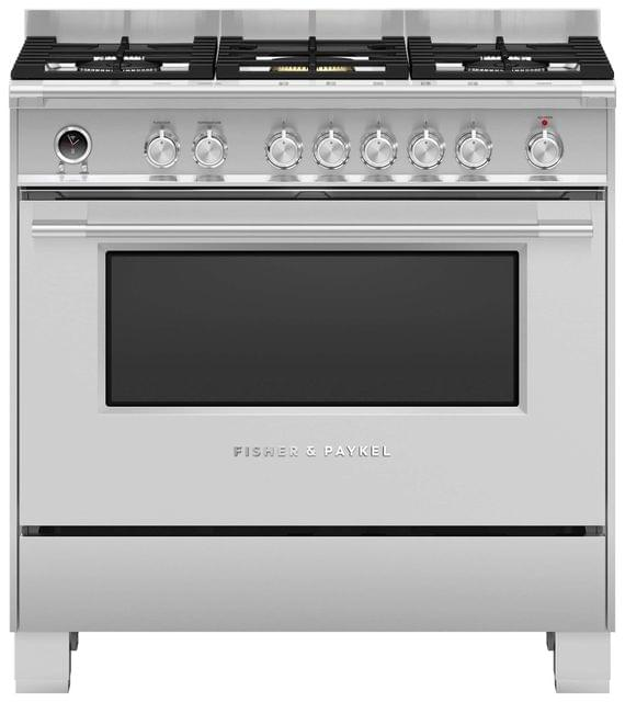 Fisher &Paykel 90cm Upright Cooker Dual Fuel 9 Functions S/S