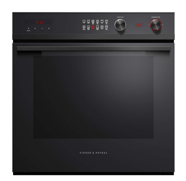 Fisher &Paykel 60cm Built-In Pyrolytic Oven 11 Functions Black