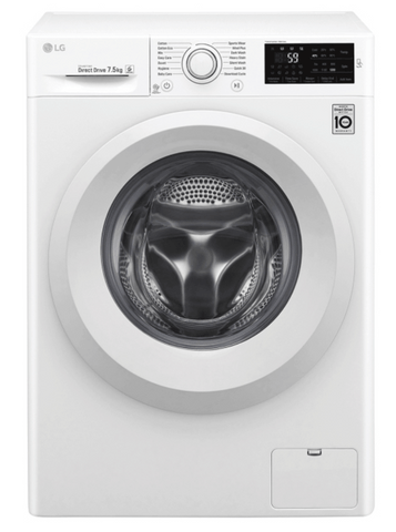 LG 7.5Kg Front Load Washer White