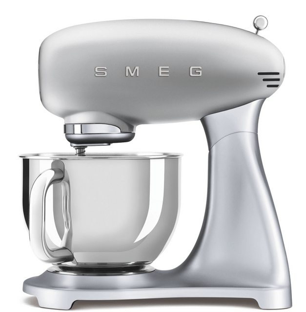 SMEG 4.8L Top Colour Electric Stand Mixer - Silver