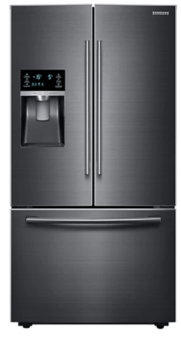 Samsung 665L French Door Refrigerator Black Steel