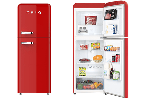 Changhong 216L Retro Style Top Mounted Fridge(Red)
