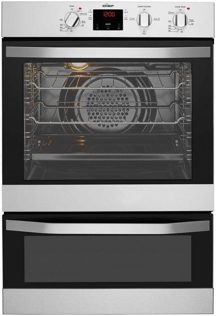 Chef 60cm Double Oven 80L/46L S/S