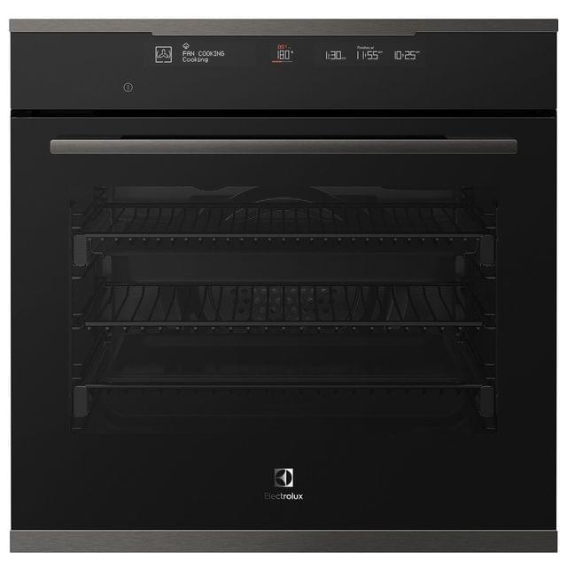 Electrolux 60cm Electric Oven 8 Functions + Steam Dark S/S