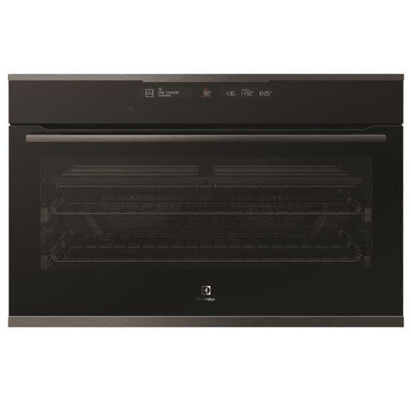 Electrolux 90cm Pyrolytic Built-In Oven 13 Func+Steam Dark S/S