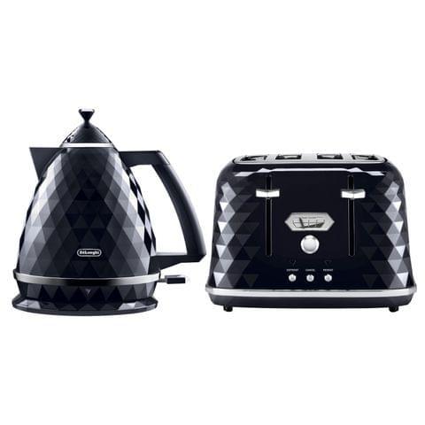 Brillante 1.7 Litre Kettle & 4 Slice Toaster Pack - Black