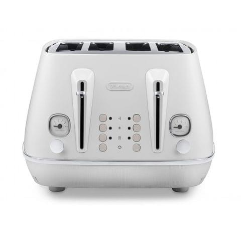 Delonghi Distinta Moments 4 Slice Toaster Sunshine White