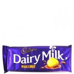 Cadbury Wholenut Dairy Milk Chocolate 150g